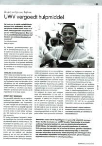 Miloushka Kronstad: artikel UWV 2013